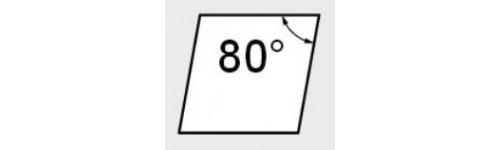 C - Rhombique 80°