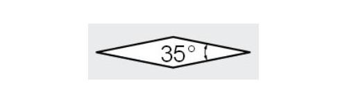 V - Rhombique 35°