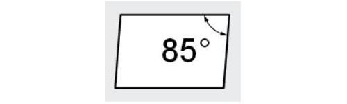 A - Parallélogramme 85°